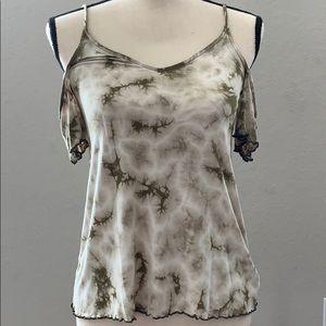 NWT Women's Tie-Dye Dressy Cold Shoulder Tank